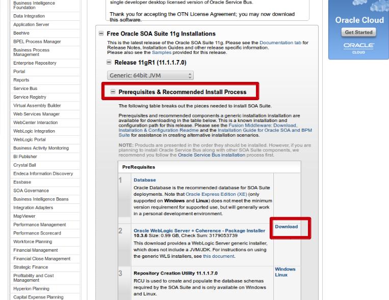 Installing Oracle 11g SOASuite – Part 3: Oracle WebLogic Server